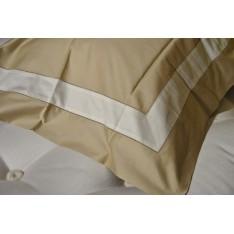 Taie d'oreiller PAR TOUT col.13 beige rayure crème, dim.65x65cm, Mastro Raphael