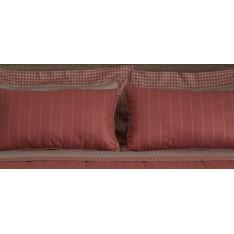 TAIE d'oreiller MASTRO RAPHAEL-PENNYLANE 65 x 65 cm col 5 rouge rayé