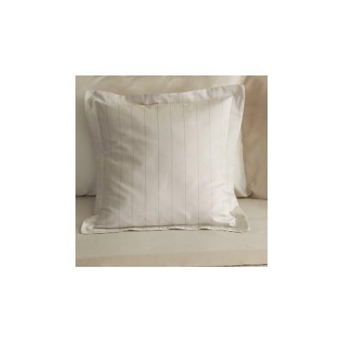 TAIE d'oreiller MASTRO RAPHAEL-PENNYLANE 65 x 65 cm , sans volant, col 1 beige rayé