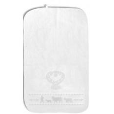 LINGE invité éponge Blanc. Montée à l'Alpage art.50.05.0061 dim.30x50cm, Steinlin