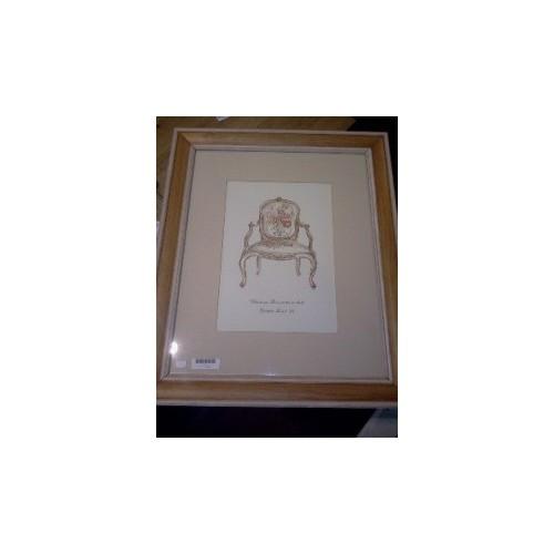 Tableau fauteuil Louis XV