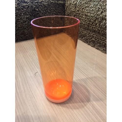 SET de 6 verres à eau en plastic, col. orange, haut. 17 cm,. Aulica