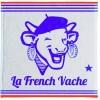 linge éponge  LA VACHE QUI RIT, blanc avec vache bleue  dim. 50 x 50 cm, Coucke