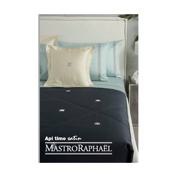 drap housse satin 180 x 200 cm haut bonnet 40 cm turquoise 7n mastro rapha l. Black Bedroom Furniture Sets. Home Design Ideas