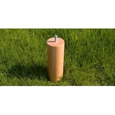 Jeux de 4 pieds cylindriques KANDY  Ø60mm Hauteur 17 cm Hêtre massif