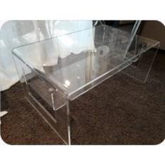 TABLE de salon en plexi, dim. 83x50cm haut. 36 cm, Vesta
