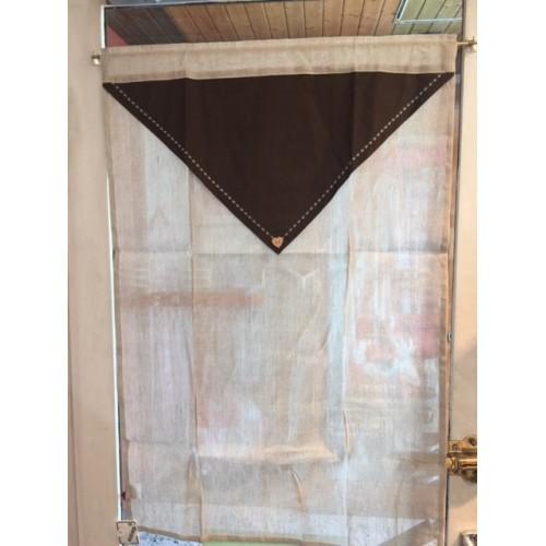 BRISE-BISE dim. 90 x 60 cm col. lin, pan marron - Autour de la montagne