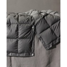 DUVET- SOCIETY  BOW - housse 100% nylon - intérieur 100% duvet d'oie, 140 x 250 cm col 5 anthracite