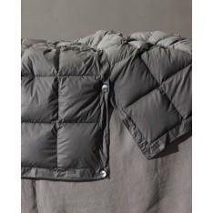 Duvet SOCIETY  BOW - housse 100% nylon - intérieur 100% duvet d'oie, 140 x 250 cm col 5 anthracite