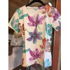 Tee-shirt Aspen Tulipes col.blanc,  T2 (36)Manuel Canovas