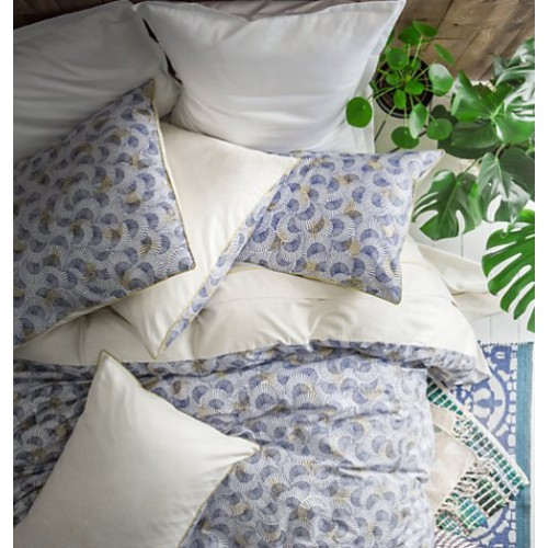 TAIE d'oreiller Tama Song bleu-blanc jaune, dim.50 x 75 cm, Essix