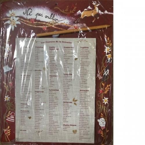 LISTE des courses LEONIES 27 X 35 cm