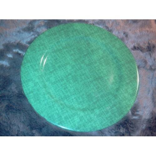 SET de 2 assiettes de présentation Les Toiles col. vert, diam.30cm, Pierre Frey