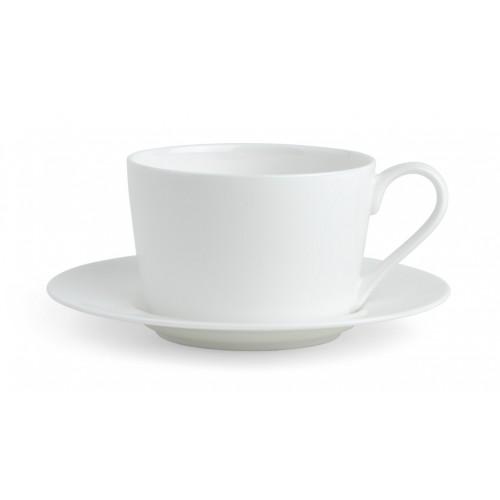Fenton Tea Cup & Saucer - Plain White