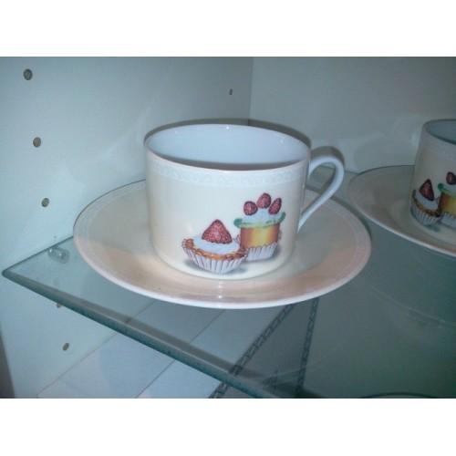 COFFRET de 2 tasses et sous tasses Gourmandise, Pierre Frey