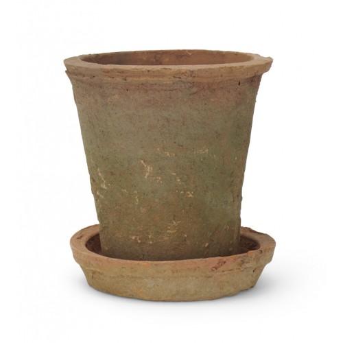 Sorrel Pot and Saucer - Small