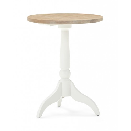 Suffolk Tall Small Round Side Table - Silver Birch