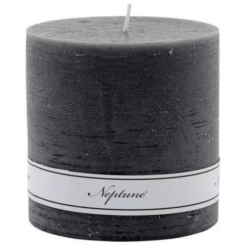 Blyton 10 x 10cm Pillar Candle - Charcoal