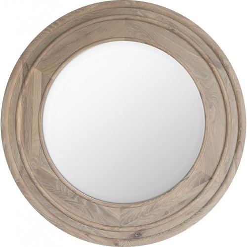 Edinburgh 96 Round Mirror - Vintage Oak