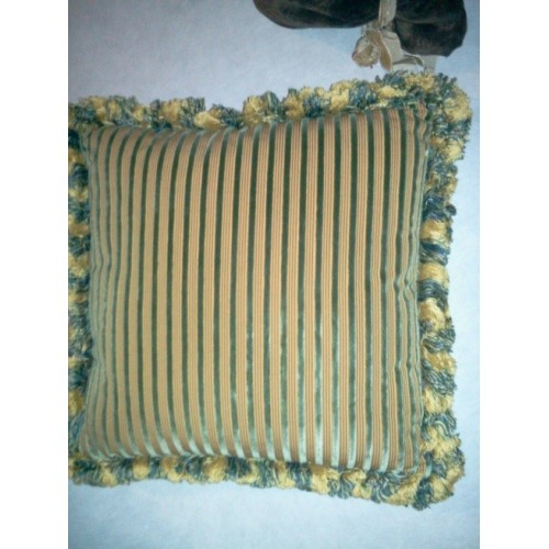 Coussin Manoir col.vert/or, dim.40x40cm, Nobilis