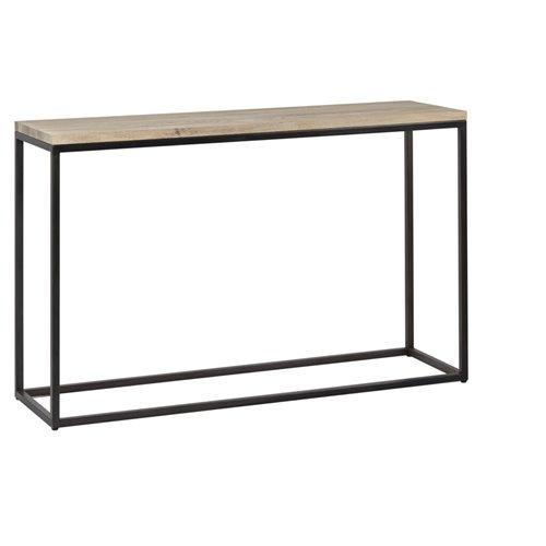 Carter 1200 Rectangular Console Table - Metal & Oak
