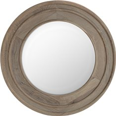 Edinburgh 67 Round Mirror - Vintage Oak