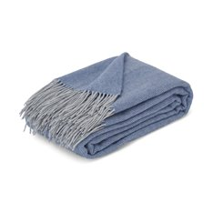Westmeath Herringbone Throw - Denim