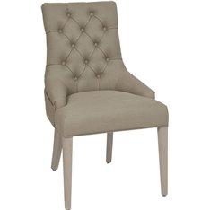 Henley Dining Chair - Archie Misty Grey - Pale Oak