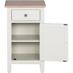 Chichester Bedside Cabinet Closed Right - Shell