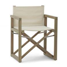 Denham Campaign Chair - Canvas & Weathered Teak