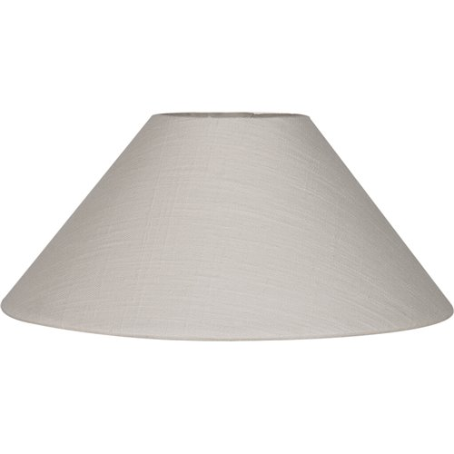 """Oliver 12"""" Warm White Linen Lampshade"""
