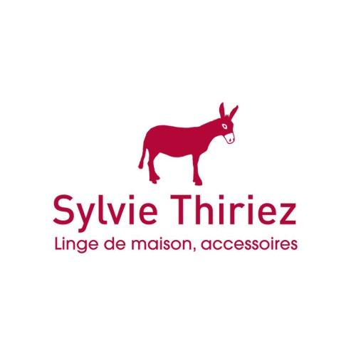 """TAIE d'oreiller Le Grand Saut """"col. Gris , dim.65x65cm, Sylvie Thiriez"""""""