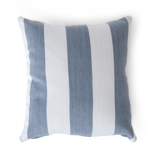 Evie stripe outdoor cushion 45x45 Flax blue