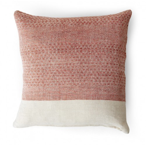 Grace Scatter Cushion 45x45cm - Burnt Sienna Geometric