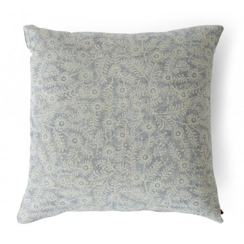 Grace Scatter Cushion 57x57cm - Orla Flax Blue