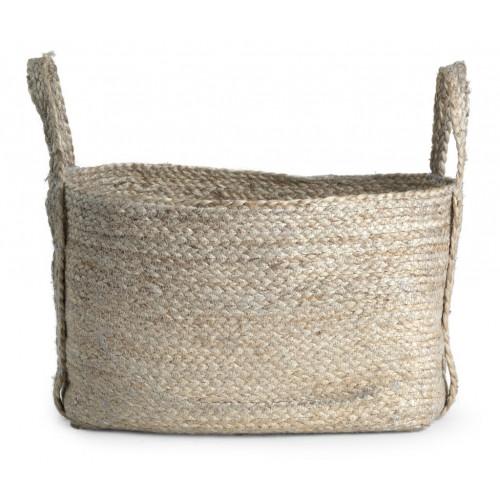 Arbroath Rectangular Jute Basket, Large