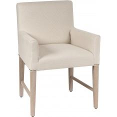 Shoreditch Carver Chair- Clara Natural - Pale oak legs