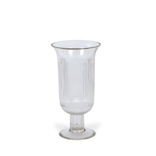 Richmond Glass Footed Hurricane - Small