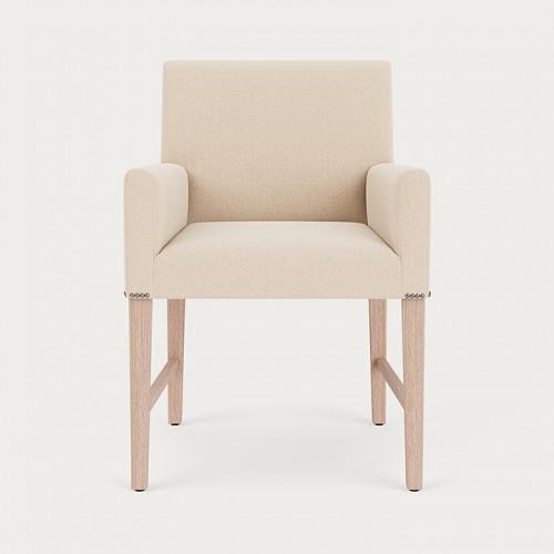 Shoreditch Carver Chair - Hugo Pale Oat - Pale Oak