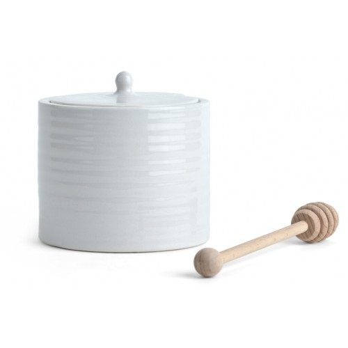 Lewes Pot with Wooden drizzler - Grey