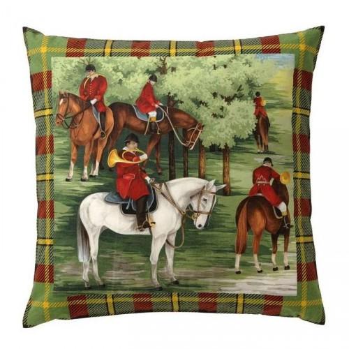Cushion Billebaude horses, dim.40x40cm, Pierre Frey